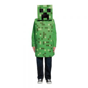 Minecraft Creeper Barn Maskeraddräkt - Small