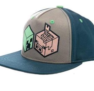 Minecraft Earth Creeper and Pig Head Youth Snapback Cap