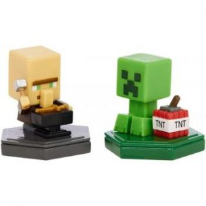 Minecraft - Boost Mini Figure 2-Pack - Reparing Villager & Mining Creeper (GMD15)