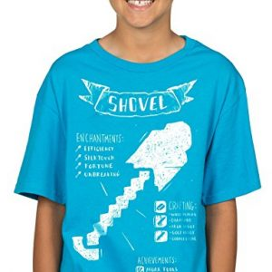 Minecraft Shovel Diagram T-shirt Barn