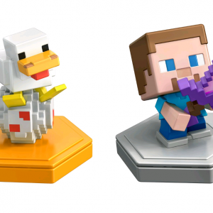 Minecraft Boost Mini Figure 2-Pack Steve and Companion