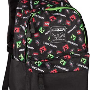 Minecraft 17 Creepy Things Backpack Green