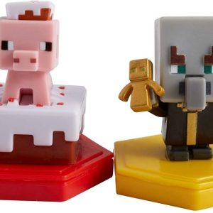 Minecraft - Boost Mini Figure 2-Pack - Pigging out Pig Undying Evoker (GMD16)
