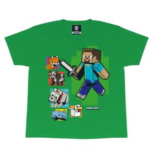 Minecraft Tjejer Steve And Friends T-shirt