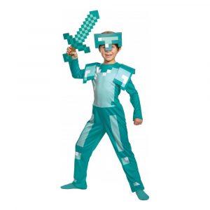Minecraft Armor Barn Maskeraddräkt - Medium