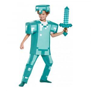 Minecraft Armor Deluxe Barn Maskeraddräkt - Medium