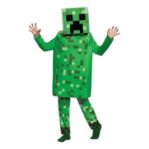 Minecraft Creeper Deluxe Barn Maskeraddräkt - Medium