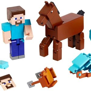 Minecraft Comic Steve & Diamond Armored Horse